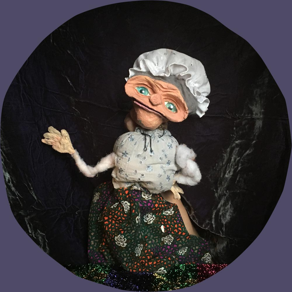 old lady puppet